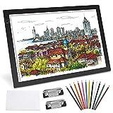 GVOO A3 LED Leuchttisch,LED Light Box Tracer,Leuchtkasten,Ultra-Slim,Taktile Steuerung und Einstellbare Helligkeit für Zeichnung Skizze Tablett ArchitekturKalligraphie