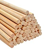 60 holzstäbchen Stück lange Rundhölzer unbehandeltes Bambusholz Holzstab Bastelhölzer Basteln Bastelbedarf (6 mm x 30 cm)