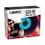 Emtec CD-R Vinyl Look CD-R 700MB 10Stück(E) - CD-Rohlinge (CD-R, 700 MB, 10 Stück(E), 120 mm, 52x)
