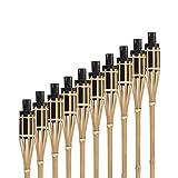 Hussala Bambus Gartenfackel Turin Öl Bambusfackeln, Nachfüllbar, Länge 100 cm Garten-Fackeln - 10 Stück