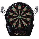 HOMCOM Elektronische Dartscheibe Dartboard Dart-Set mit 6 Darts 24 Dartköpfe 27 Spiele und 243 Trefferoptionen für 16 Spieler Mehrfarbig 44L x 51,5B x 3,2T cm