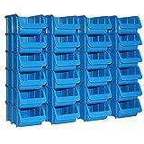 24x Profi Sichtboxen Größe 2 blau NEU Stapelboxen Sicht-Lagerbox Boxen Sichtbox