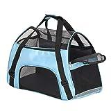 Macallen Tragetasche Hund Transporttasche Katzentasche Hundetransporttasche Transporttasche Katze Katzentragetasche Katzentransporttasche 52 x 27 x 32 Zentimeter (Blau)