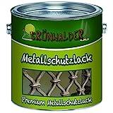 Grünwalder Metallschutzfarbe premium Metallschutzlackschnelltrocknend und leicht zu verarbeiten - TOP! (1 L, Moosgrün (RAL 6005))
