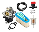 OuyFilters Carburetor With 36356 Air Filter Shut Off Valve Fuel Filter Fuel Line for Tecumseh OHV125 OHV130 OVH135 Replace 640065A