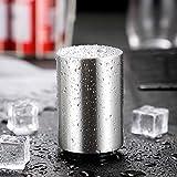 Baomasir Automatischer Flaschenöffner/Kapselheber, Zum Öffnen von Kronkorken-Flaschen, Gebürstetes Aluminium, Push&Pull, Silber