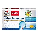 Doppelherz gegen Halsschmerzen - Gegen Halsschmerzen bei Entzündungen im Rachen - Mit Honig- und Zitronengeschmack - 24 Lutschtabletten
