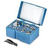 Neewer 2er-Pack 1000 Gramm Präzisionsstahlbalancen Waagschale-Kalibrierungs-Gewicht Set Set (2 * 500 g, 2 * 200 g, 4 * 100 g, 2 * 50 g, 4 * 20 g, 2 * 10 g)
