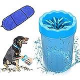 Haustier Hunde Pfotenreiniger mit Handtuch,Hunde Pfote Reiniger, Tragbarer Pet Reinigung Pinsel Tasse für Hunde Katzen Massage Pflege Schmutzige Klauen,weiche sanfte Borsten