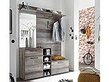 möbelando Kompaktgarderobe Flurgarderobe Minigarderobe Garderobe Flurmöbel Colchester I