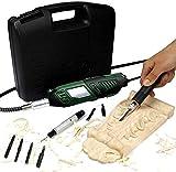 YJINGRUI Elektro Meißel Schnitzwerkzeug Holzschnitzmeißel-Sets Hochgeschwindigkeits Holzmeißel mit Polierfunktion 220V