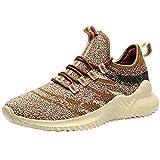 VVQI Laufschuhe Herren Damen Sneaker Sportschuhe Turnschuhe Mode Leichtgewichts Freizeit Atmungsaktive Fitness Schuhe 40 EU 002 3 Khaki
