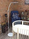 ComfortBaby ® Babybett-Himmelstange/Himmelhalter mit Standfuß - Höhe: ca. 1,7 m (weiß)