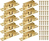 Kupink 10 Stk Messing Robust Doppel Kugelschnapper Möbel Schnapper Türschnäpper 42mm für Küche Schranktüren Schränke