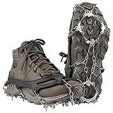 Terra Hiker Schuhspikes, Schuhkrallen mit 18 Zähnen, Steigeisen mit Edelstahlspikes für Bodenhaftung auf EIS und Schnee