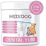 Medidog Dental YUM 250g Zahnpflege Granulat für Hunde effektiv gegen Mundgeruch und Zahnstein Zahnsteinentferner für den Hund und Welpen frischer Atem