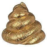OOTB 78/5900 Gips-Figur, Goldfarbener Poo, Gold