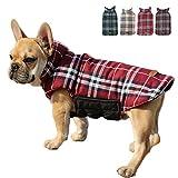 TFENG Hundemantel Hundejacke für Hunde Welpen, Gepolstert Puffer Umkehrbares Design Weste Regenmantel (Rot, Größe M)
