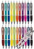 Libetui Set 52-er Kugelschreiber farbenfrohe Druckkugelschreiber in trendigen Farben für Büro Uni Haushalt Set 50 +2 Kugelschreiber
