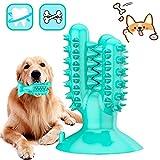 DERU Hundezahnbürste, Zahnbürste Hund, Hunde Zahnpflege Spielzeug, Kaustick aus Naturkautschuk, Hund Kauen Zahnreiniger Welpen Zahnreinigung, für Kleine Hunde Welpe Große Hunde (Blau)
