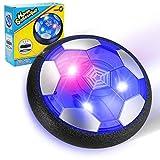 EXTSUD Air Power Fußball Kinderspielzeug, Wiederaufladbar Hover Soccer Ball Fussball mit LED-Licht Schaum Stoßstangen Geschenke für Junge Mädchen Spiel Sport Indoor Outdoor