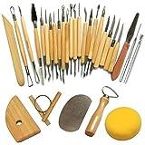 Cozyswan Keramik- und Skulpturenwerkzeuge Meißel für Keramikkünstler-Kit 30 Stück