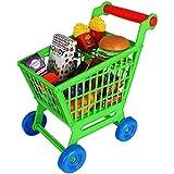 TW24 Kinder Einkaufswagen Spielset 35tlg. Supermarkt Einkaufstrolley mit Zubehör Kaufladen Lebensmittel Kinderspielzeug Set