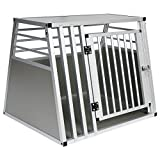 EUGAD Hundebox Transportbox Hundetransportbox Alu Reisebox Gitterbox Box L 80 x B 65 x H 65 cm 0061HT