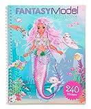 Depesche 11414 Stickerbuch Dress me up, FANTASYModel, ca. 20 x 16 x 1 cm, 24 illustrierte Seiten und 10 Blatt mit Stickern