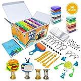 Modelliermasse Kit - 36 Farben Lufttrockener Magischer Knete für Kinder, DIY Formton mit werkzeugen, Tierisches Zubehör, Kinder Kunsthandwerk Geschenk für Jungen und Mädchen im Alter von 3-12 Jahren