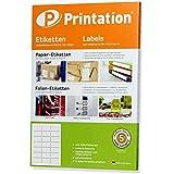Universal Adress-Etiketten für C6 Briefumschläge 63,5 x 38,1 mm klebend weiß 2100 63,5x38,1 Adressetiketten auf 100 DIN A4 Bogen 3x7 abgerundete Ecken - 4677 LA320 L7160 3422