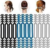 ablever 12 Stück Mask Extender Maskenhaken Anti-Tightening Ear Protector Dekompressionshalter Haken Ohrriemen Zubehör Ohrverlängerungsmaske Schnalle Ohrenschmerzen gelindert (Coloful)