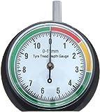 VERGO Reifenprofilmesser - Tiefenmesser - Profiltiefenmesser - Messbereich 0-11 mm/0-0.43' - Klar 1,7'(44mm) Zifferblatt - Einfach zu bedienen - PKW, LKW, SUV, Motorrad -Stoffsack inklusive