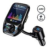 Bluetooth FM Transmitter, VicTsing Intelligente Suche Bluetooth Transmitter, 1.8' Farbbildschirm Kfz Radio Adapter, Auto Mikrofon Freisprecheinrichtung mit QC 3.0/3 USB Ports/U Disk/Aux