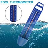 Eruditter Thermometer Pool Schwimmring, Poolthermometer Schwimmend Schwimmbadthermometer Für Outdoor & Indoor Pools, Spas, Hot Tubs, Aquarien, Fischteiche 170x 39 X 30mm