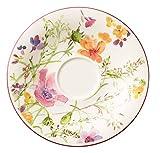 Villeroy & Boch Mariefleur Basic Kaffee-Untertasse, schöne Untertasse mit verspieltem Blumendekor aus Premium Porzellan, spülmaschinenfest, 16 cm