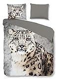 Good Morning! Bettwäsche Snow Leopard 1 Bettbezug 135x200 cm + 1 Kissenbezug 80x80 cm