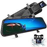 VanTop H610 Spiegel Dashcam Auto vorne hinten, 2,5K Autokamera mit 10' Touchscreen, Nachtsicht mit Sony STARVIS Sensor, 1080P Rückfahrkamera, Loop-Aufnahme, G-Sensor, Parkmonitor, Parkhilfe, HDR, WDR