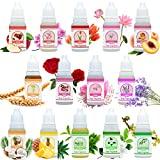 Limino Seifenduftöl - 14 Konzentrierte Duftöl Seifen Duft Set zur Seifenherstellung, Badebomben Aroma - Flüssig Badebomben Düfte Lebensmittelechte Seifenduft für DIY Kosmetik, Kunst, Art - je 10ml