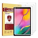 OMOTON [2 Stück] Panzerglasfolie für Samsung Galaxy Tab A 10.1 (2019) T510 und T515,mit [2.5D abgerundete Kanten ] [9H Härte] [Kristall-klar [Kratzfest] [bläschenfrei]