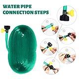 Ouskau Wassersparender Schlauch-Regner für Bewässerung von Pflanzenreihen und Beeten Trampolin Wasserrohr Sommer Outdoor Sprinkler PVC Sprührohr Set