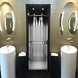 murimage Türtapete Fahrstuhl 86 x 200 cm inklusive Kleister Aufzug Lift Paternoster Edelstahl Büro Fototapete