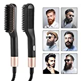 Bartglätter Bürste,Bürste Bartglätter Für Männer,3 in 1 Multifunktionale Elektrischer Bartglätter Haarglätter Bürste, Einstellbare Temperaturen Anti-Verbrühungs-Bartglättungs