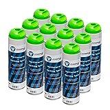 Markierungsspray leuchtend grün clickandtools® 12'er Pack mit Spezialsprühkopf, schnell trocknend