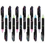 12 Stücke Kugelschreiber Mehrfarbig 4 in 1 Retractable Kugelschreiber 4 Farben (Rot, Grün, Blau und Schwarz), Multicolor Stifte für Studenten Kinder Büro Schulbedarf