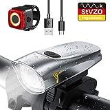 LIFEBEE Neueste Modell LED Fahrradlicht Set, StVZO Zugelassen USB Fahrradbeleuchtung Aufladbar Fahrradlampe, Wasserdicht Fahrradlichter Vorne Akku Wiederaufladbar Batterie Licht für Fahrrad