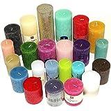 6 kg Qualität Rustic Stumpenkerzen durchgefärbt Rustik Stumpen Kerzen Mix farblich bunt gemischt 1.Wahl