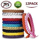 AIMTOP Mückenschutz Armband, 12 Stück Moskito Armband Repellent Mücken Armband, Mückenarmband für Indoor, Outdoor, Kinder, Erwachsene