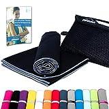 Mikrofaser Handtuch Set - Microfaser Handtücher für Sauna, Fitness, Sport I Strandtuch, Sporthandtuch I 1x M(110x50cm) I Anthrazit