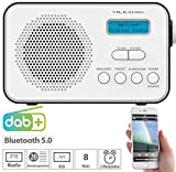 VR-Radio Radio: Mobiles Akku-Digitalradio mit DAB+ & FM, Wecker, Bluetooth 5, 8 Watt (Radio mit Akku)